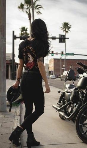 biker chic halloween hairstyles