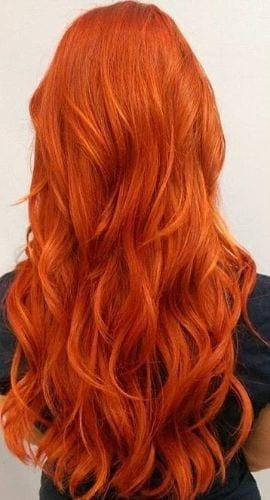 blonde orange hair