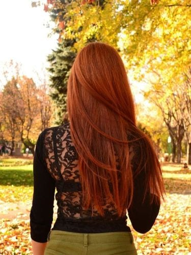 copper red fall hair color ideas