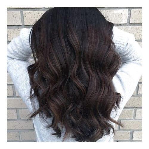 dark brunette balayage