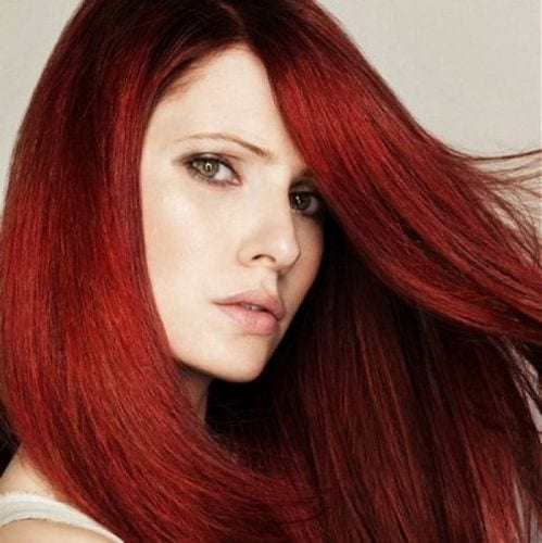 fiery red hair
