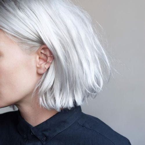 icy platinum blonde hair