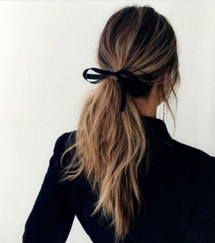 long wavy hair with accessories