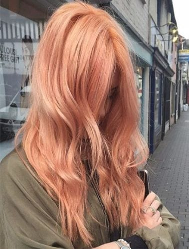orange peach hair