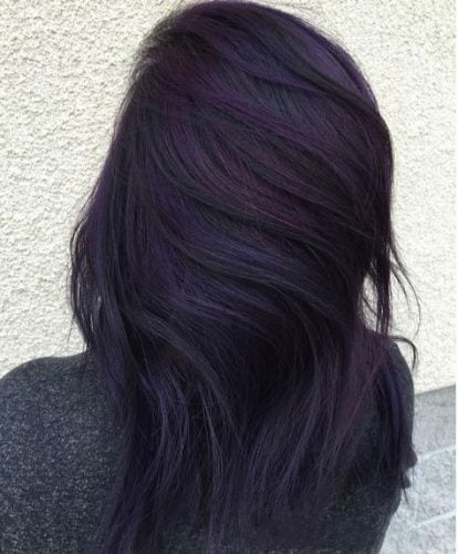 purple brunette cute fall hair color ideas