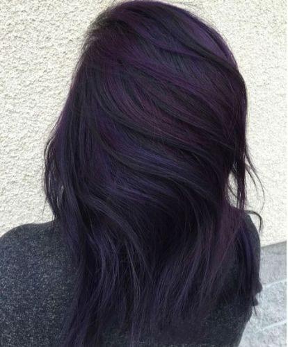 purple brunette cute fall hair color ideas