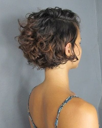 short haircuts for thick wavy hair with ombre tips