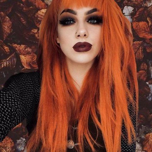 trick or treat hair orange