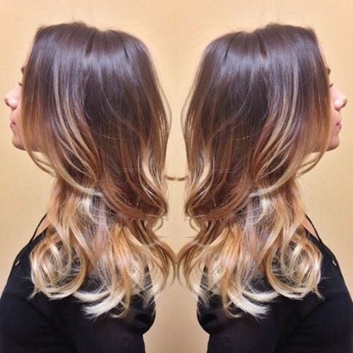 warm base ombre