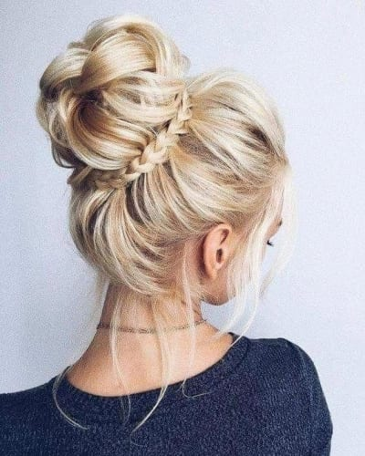 Bun And Braid Hairstyles