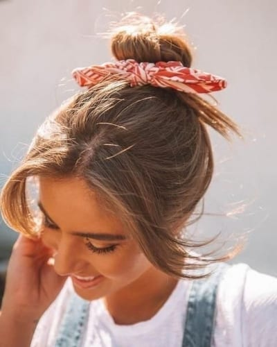 Bun Hairstyles for Medium-Length Hair