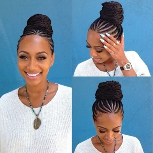 Cornrow Bun Hairstyles