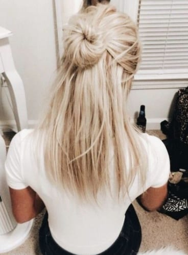 Half Up Half Down Bun Hairstyles