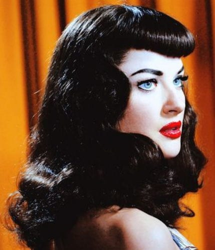The Blunt Fringe - the 40s Pin-Up Style