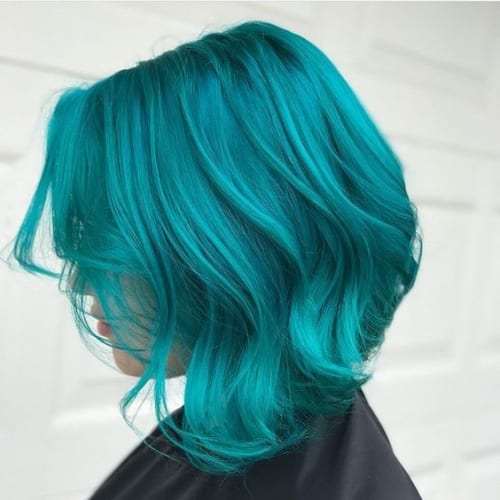 blue bob hairstyles