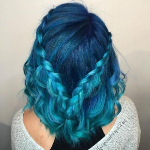 blue braids hairstyles