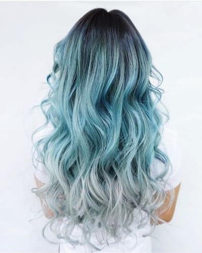 blue mermaid hair