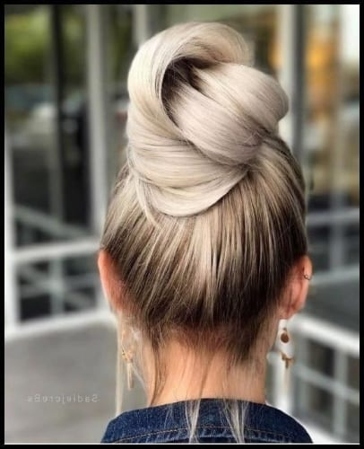 cute pull through bun hairstyles