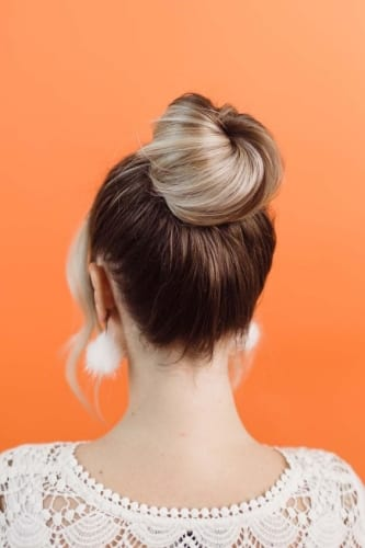 donut bun hairstyles