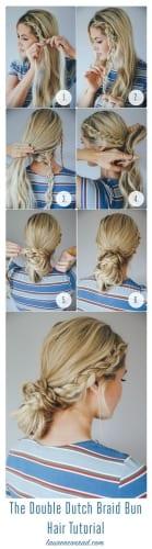 double dutch braid bun tutorial