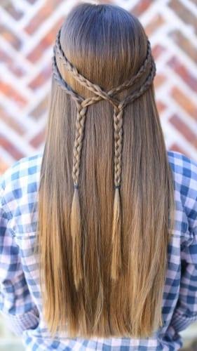 double tie back braid