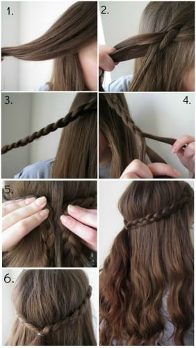 quick and easy braid for school for long hair