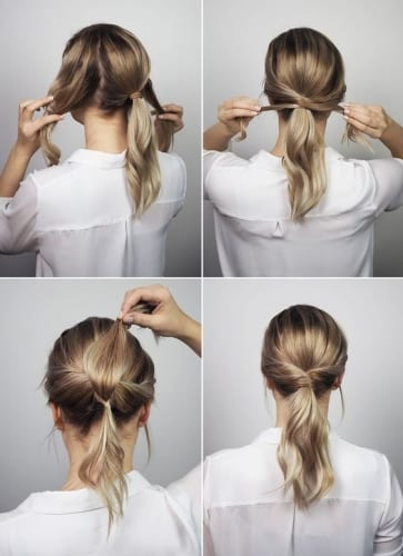 twist braids ponytail
