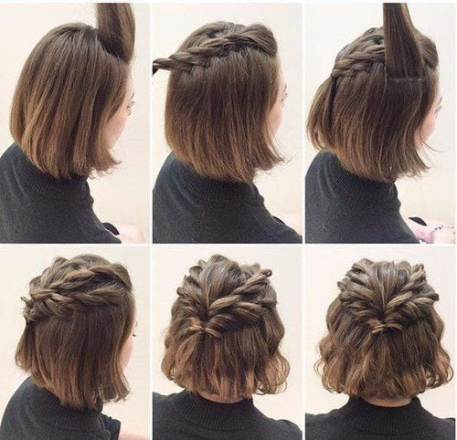 Twin Braids Style on Short Hair