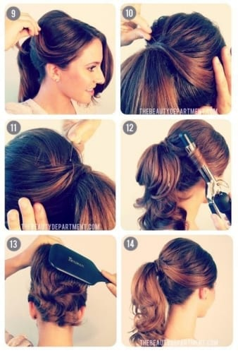 50s style ponytail