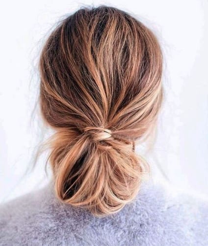 Best Thanksgiving Hairstyle - Elegant Low Bun
