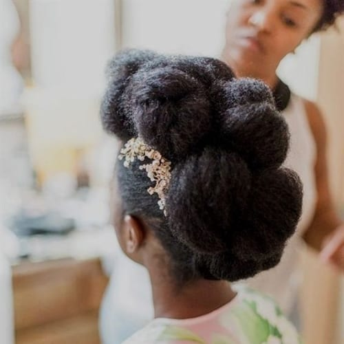 Black Chignon Hairstyles