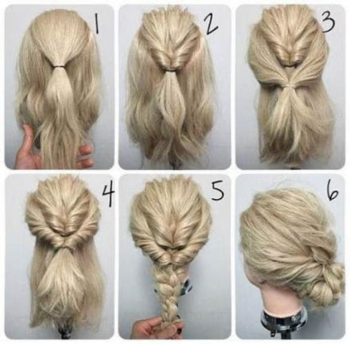 Braided Chignon Hairstyle How-To