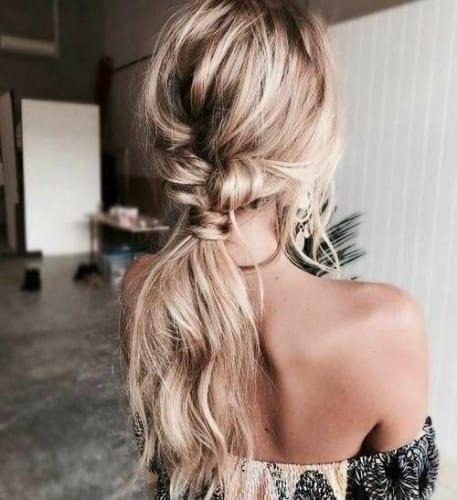 Braided Messy Prom Hair
