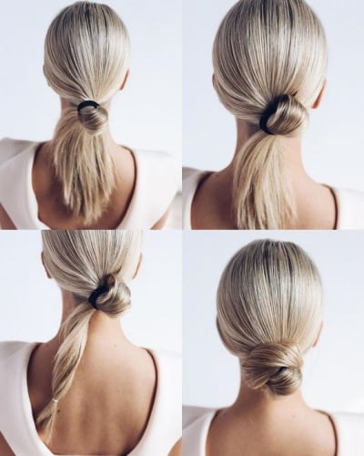 Chignon Hairstyle For Long Hair