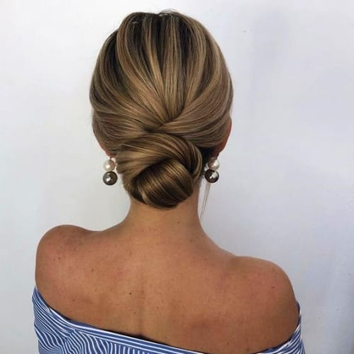 Chignon Hairstyles For Medium Length Hair