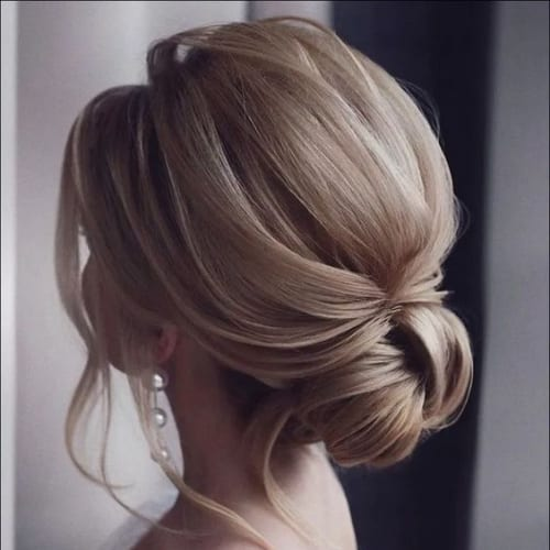 Chignon on Perfectly Straight Hair