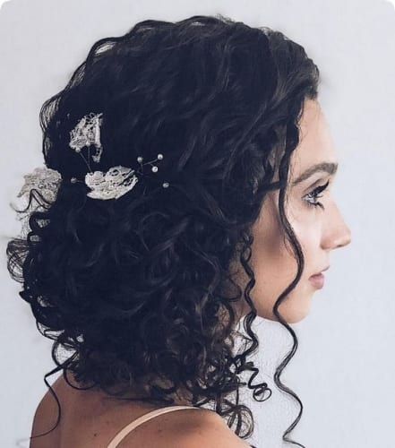 Curly Chignon Hairstyles