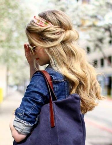 Demi Chignon Hairstyle