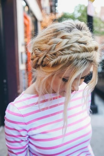 Double Crown Braid Hairstyle Idea