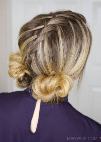 Funky Braided Low Buns