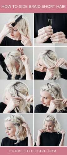 How To Do A Messy Side Braid With Short Hair
