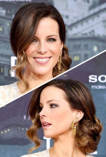 Kate Beckinsale Celebrity Chignon Hairstyles