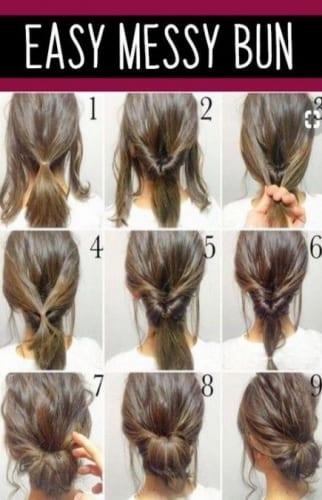 Messy Bun For Long Hair