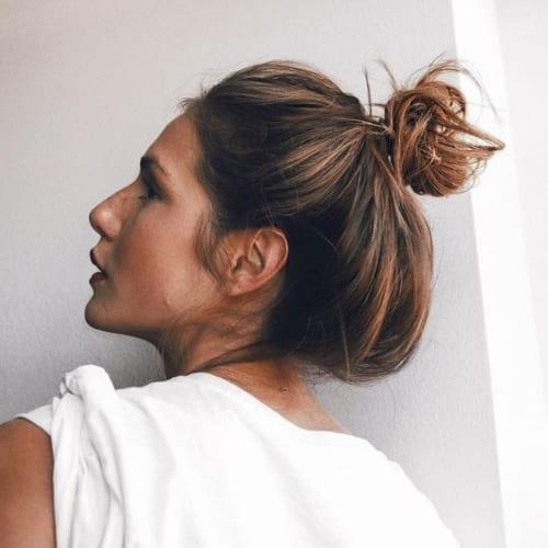 Messy Bun For Medium Length Hair