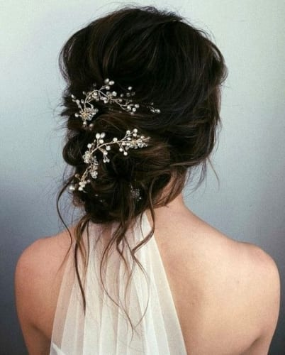 Messy Chignon Hairstyles For Weddings