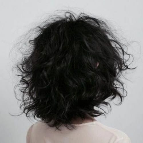 Messy Curls Short Hair