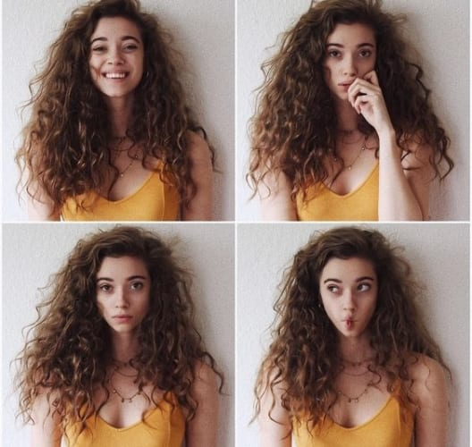 Messy Curly Hair