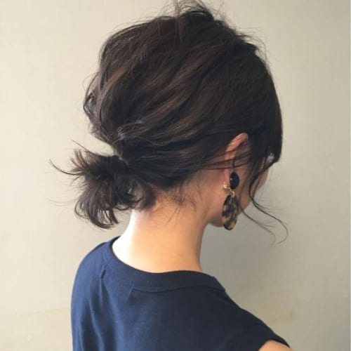 Messy Updo For Short Hair