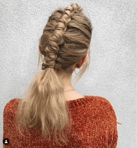 Pipe Braid with Loose Ends