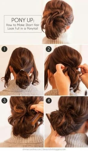 tutorial Easy Ponytail Hairstyles For Medium Length Hair